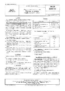 Wyroby z węgli uszlachetnionych - Wyroby z gralanu - Wspólne wymagania i badania BN-69/6089-03