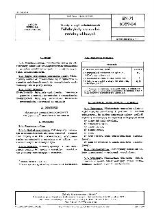 Wyroby z węgli uszlachetnionych - Półfabrykaty uszczelek metalografitowych BN-71/6089-04