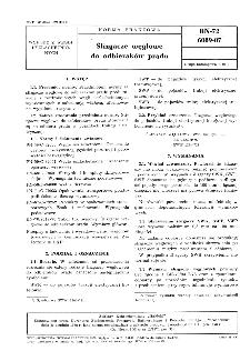 Ślizgacze węglowe do odbieraków prądu BN-72/6089-07