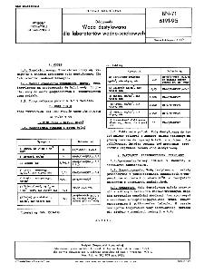 Odczynniki - Woda destylowana dla laboratoriów wodno-ściekowych BN-71/6191-95