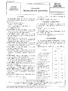 Odczynniki - Wodorotlenek potasowy BN-72/6191-104
