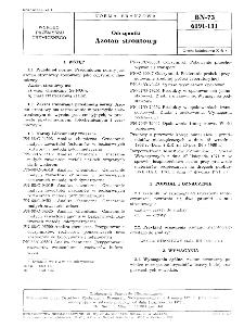 Odczynniki - Azotan strontowy BN-73/6191-111