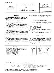 Odczynniki - Molibdenian amonowy BN-73/6191-113