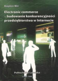 Electronic commerce - budowanie konkurencyjności przedsiębiorstwa w Internecie
