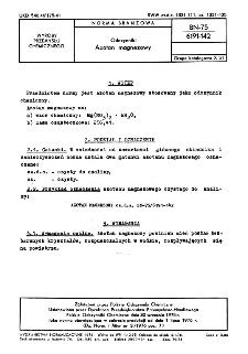 Odczynniki - Azotan magnezowy BN-75/6191-142