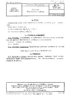 Odczynniki - Dwuchromian sodowy BN-76/6191-143