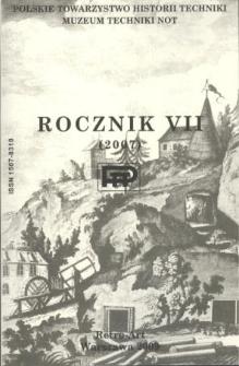 Rocznik / Polskie Towarzystwo Historii Techniki 7 (2007)