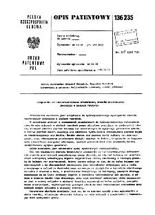 Urządzenie do hydrodynamicznego wykonywania otworów wiertniczych zwłaszcza w skałach twardych : opis patentowy nr 136235