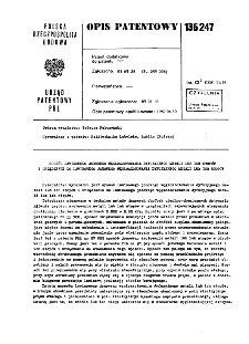 Sposób lawinowego jonowego węgloazotowania dyfuzyjnego metali lub ich stopów i urządzenie do lawinowego jonowego węgloazotowania dyfuzyjnego metali lub ich stopów : opis patentowy nr 136247