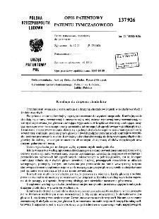 Kombajn do drążenia chodników : opis patentowy patentu tymczasowego nr 137926