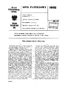 Stopa prasująca żelazka elektrycznego : opis patentowy nr 140482