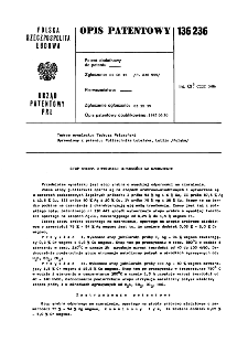 Stop srebra o wysokiej odporności na czernienie : opis patentowy nr 136236