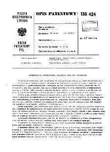 Urządzenie do homogenizacji, zwłaszcza produktów spożywczych : opis patentowy nr 136424
