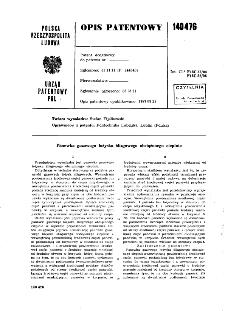 Panewka gazowego łożyska ślizgowego obciążonego cieplnie : opis patentowy nr 140476