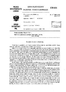 Łożysko toczne z obudową : opis patentowy patentu tymczasowego nr 130611