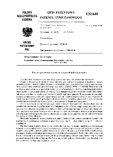 Pas do przenoszenia mocy do przekładni kątowych : opis patentowy patentu tymczasowego nr 132640