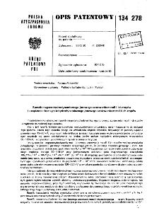 Sposób magnetohydrodynamicznego jonowego azotowania metali i ich stopów i urządzenie do magnetohydrodynamicznego jonowego azotowania metali i ich stopów : opis patentowy nr 134278