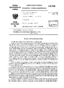 Uchwyt robota przemysłowego : opis patentowy patentu tymczasowego nr 135320
