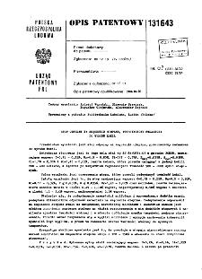 Stop odporny na zmęczenie cieplne, przeznaczony zwłaszcza do wyrobu kokil : opis patentowy nr 131643