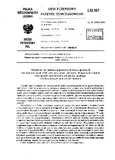 Urządzenie do badania poprzecznych łożysk gazowych aerodynamicznych i/lub aerostatycznych zwłaszcza obciążonych cieplnie oraz sposób modelowania obciążenia cieplnego łożysk gazowych podczas ich badania : opis patentowy patentu tymczasowego nr 132307