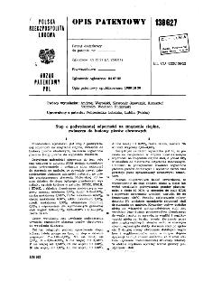 Stop o podwyższonej odporności na zmęczenie cieplne, zwłaszcza do budowy pieców obrotowych : opis patentowy nr 138627