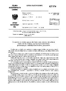Urządzenie do nieniszczącego określania stanu warstwy wierzchniej metali metodą korelacji kątowych promieniowania pochodzącego z anihilacji dwufotonowej pozytonów : opis patentowy nr 127374