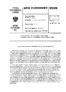 Urządzenie do ustawiania powierzchni ciernych pary tribologicznej : opis patentowy nr 129810
