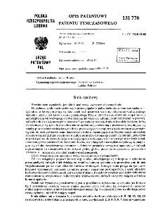 Silnik spalinowy : opis patentowy patentu tymczasowego nr 131770