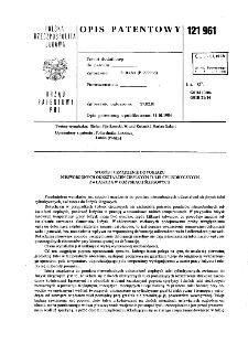 Sposób i urządzenie do pomiaru nieswobodnych odkształceń cieplnych tulei cylindrycznych zwłaszczaw łożyskach ślizgowych : opis patentowy nr 121961