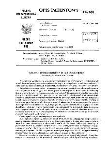 Sposób regeneracji elementów ze stali kwasoodpornej, zwłaszcza wymienników ciepła : opis patentowy nr 126688