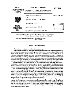 Bęben pieca obrotowego : opis patentowy patentu tymczasowego nr 127910