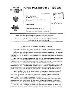 Uchwyt tokarski do mocowania przedmiotów od wnętrz : opis patentowy nr 129020