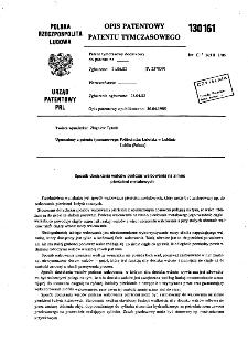 Sposób dociskania walców podczas walcowania na zimno pierścieni metalowych : opis patentowy patentu tymczasowego nr 130161