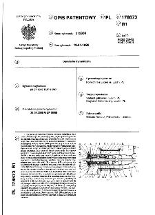 Sprężarka dynamiczna : opis patentowy nr 178673