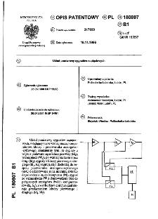 Układ pomiarowy sygnałów napięciowych : opis patentowy nr 180807