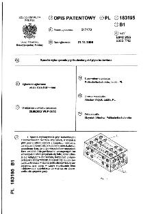 Sposób wykonywania płyt budowlanych i płyta budowlana : opis patentowy nr 183195