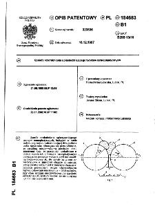Sposób rozdrabniania uplastyczniającego tworzyw termoplastycznych : opis patentowy nr 184683