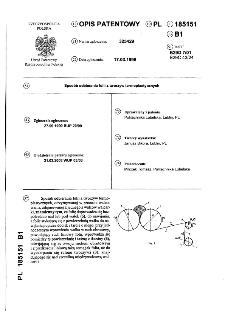 Sposób odbierania folii z tworzyw termoplastycznych : opis patentowy nr 185151