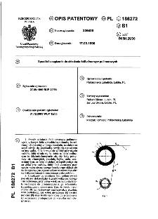 Sposób i urządzenie do składania folii z tworzyw polimerowych : opis patentowy nr 186272
