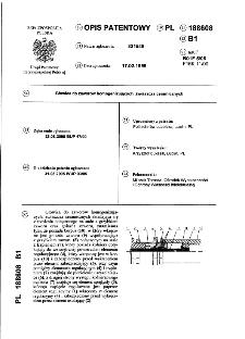 Głowica do zaworów homogenizujących, zwłaszcza ceramicznych : opis patentowy nr 188608