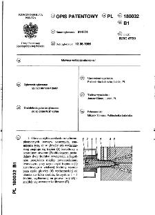 Głowica wytłaczarska do rur : opis patentowy nr 180032