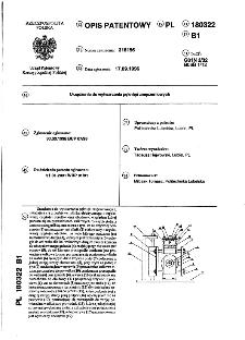 Urządzenie do wytwarzania pęknięć zmęczeniowych : opis patentowy nr 180322
