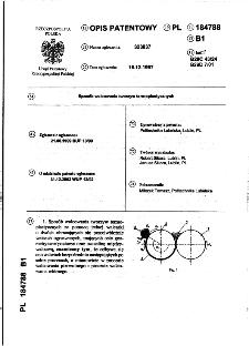 Sposób walcowania tworzyw termoplastycznych : opis patentowy nr 184788