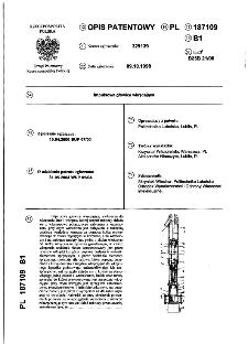 Impulsowa głowica wkręcająca : opis patentowy nr 187109