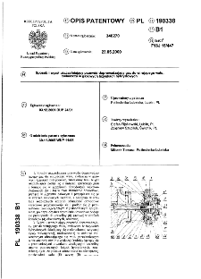 Sposób i węzeł uszczelniający przewód doprowadzający gaz do wirującego wału, zwłaszcza w gazowych łożyskach hybrydowych : opis patentowy nr 190338