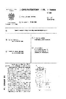 Sposób i urządzenie do pomiaru wilgotności ciał stałych sypkich : opis patentowy nr 159699