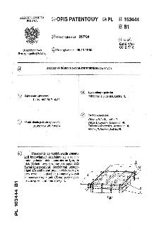 Urządzenie do modelowania konstrukcji budowlanych : opis patentowy nr 163444