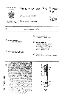 Aparat do wydłużania kończyn : opis patentowy nr 170631