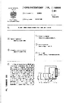 Sposób i układ do kształtowania mikroklimatu pomieszczeń : opis patentowy nr 189856