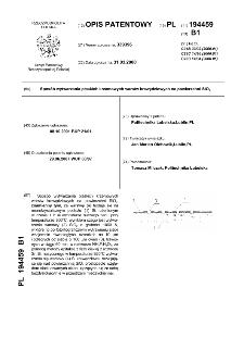 Sposób wytwarzania płaskich krzemowych warstw krawędziowych na powierzchni SiO2 : opis patentowy nr 194459